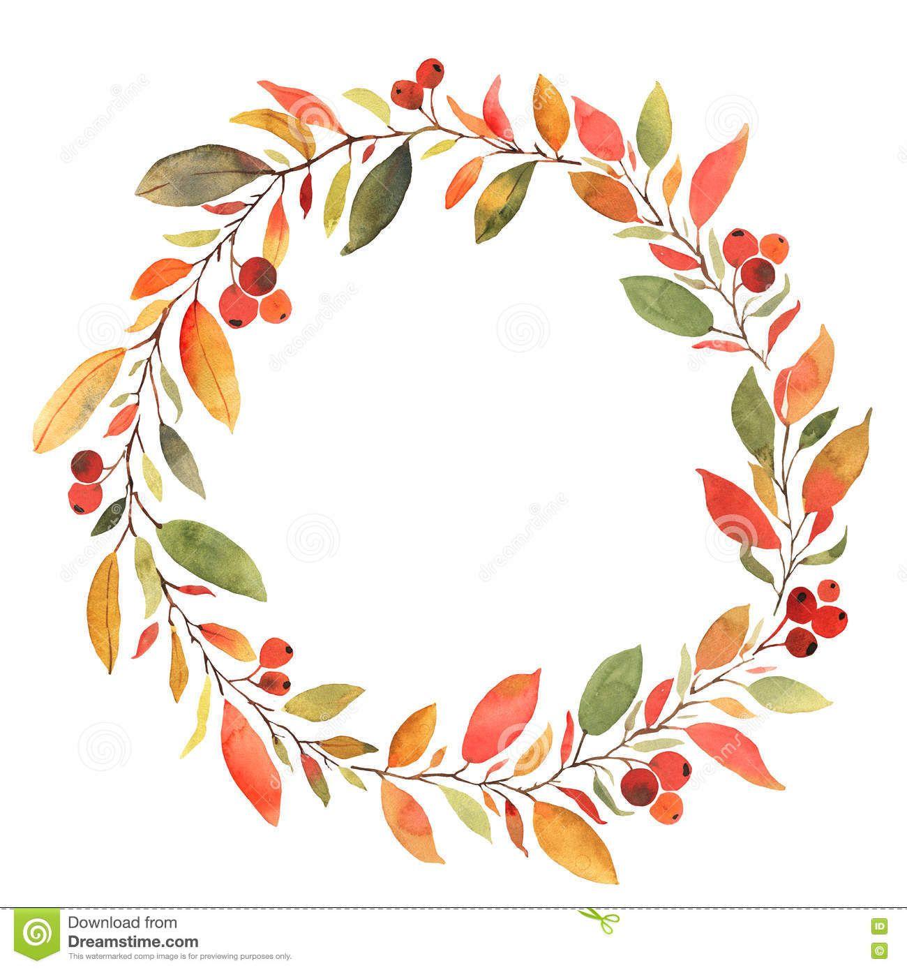 Free fall wreath clipart transparent download Fall Wreath Clipart Free | Tattoo ideas in 2019 | Wreath watercolor ... transparent download