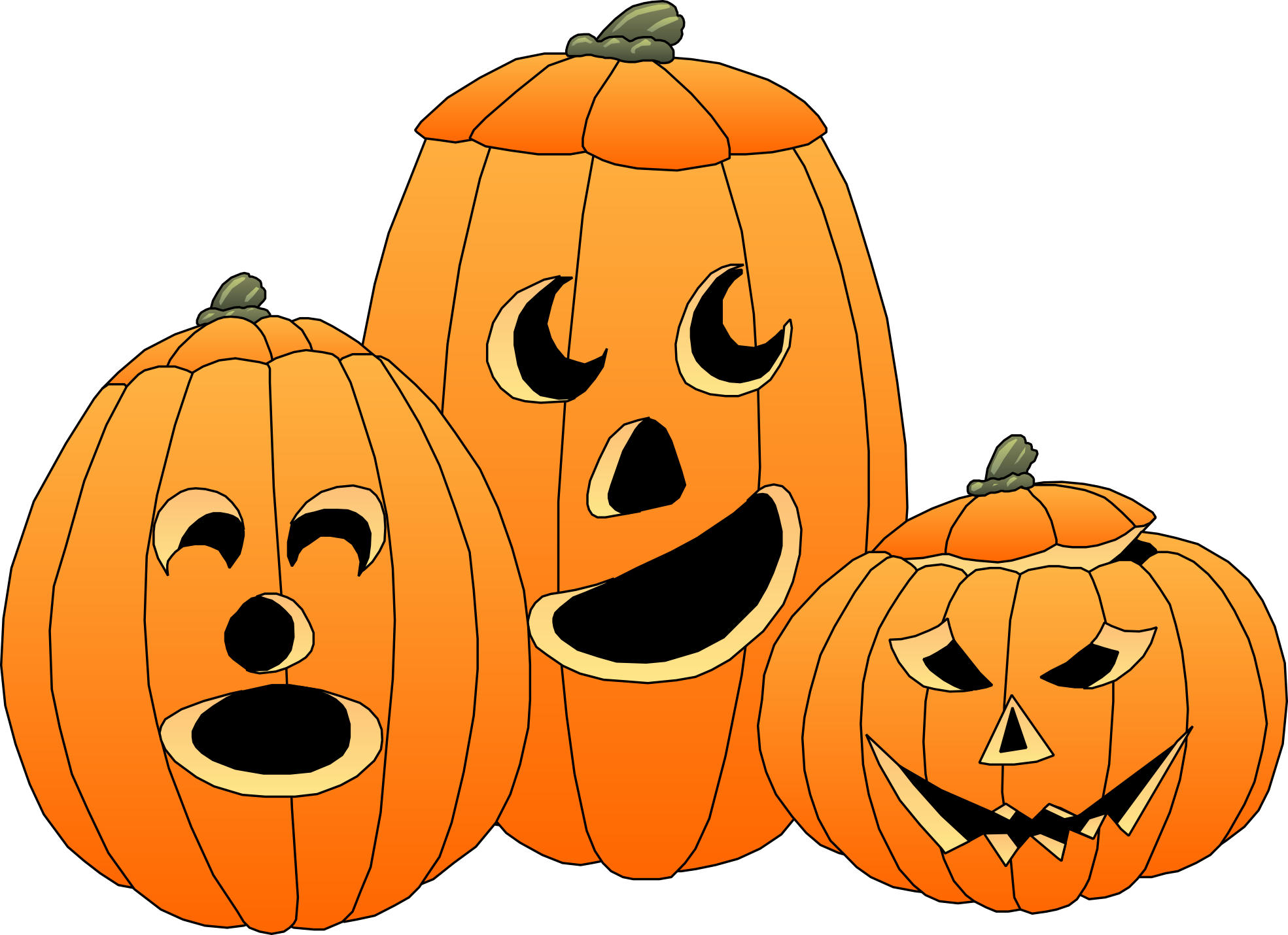 Pumpkin faces happy clipart clipart clipartist.net » Clip Art » Artfavor Art Munchie Priestley Halloween SVG clipart