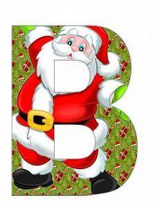 Free fancy christmas alphabet clipart graphic free Santa Claus Monogram A~Z applique,Santa Claus,Christmas Letters A ... graphic free