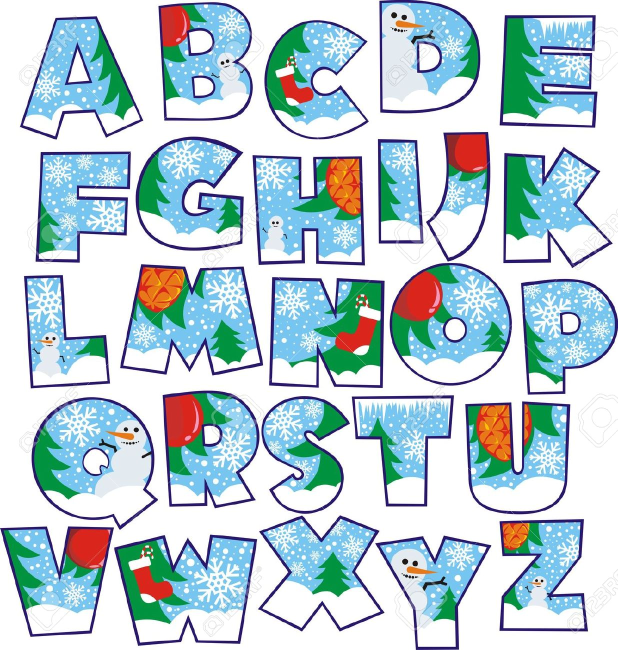 Free fancy christmas alphabet clipart picture free library Free fancy christmas alphabet clipart - ClipartFest picture free library