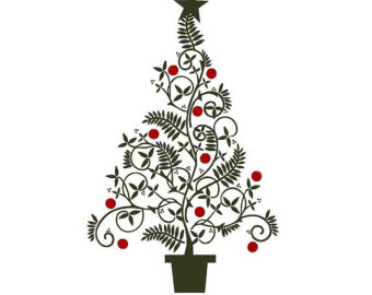 Free fancy christmas clipart picture black and white stock Christmas elegant clip art - ClipartFox picture black and white stock