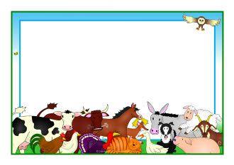 Free farm animal border clipart clip art library download Farmyard Hullabaloo A4 page borders (SB7720) - SparkleBox | Frames ... clip art library download