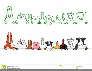 Free farm animal border clipart jpg library stock Farm Animal Border Clipart | Free Images at Clker.com - vector clip ... jpg library stock