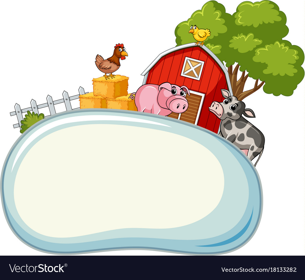 Free farm animal border clipart image library Border template with farm animals in background image library