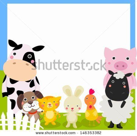 Free farm animal border clipart vector free farm animal and frame | animal Farm clips art | Farm animals, Animal ... vector free