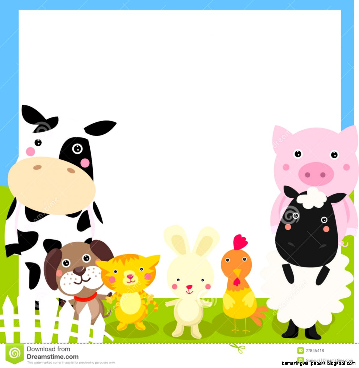Free farm animal clipart for teachers picture black and white library Free farm animal border clipart - Clip Art Library picture black and white library