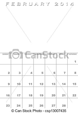 Free february 2014 calendar clipart banner transparent Drawings of February 2014 calendar template - Month of February ... banner transparent