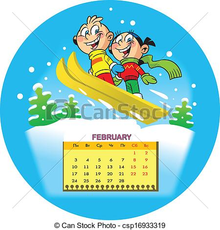 Free february 2014 calendar clipart banner February Stock Illustrations. 60,781 February clip art images and ... banner