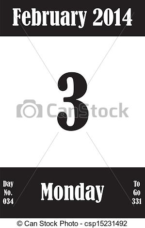 Free february 2014 calendar clipart picture royalty free download EPS Vectors of 03 February 2014 Calendar Page with number of the ... picture royalty free download