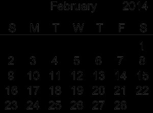 Free february 2014 calendar clipart svg stock Free february 2014 calendar clipart - ClipartFest svg stock