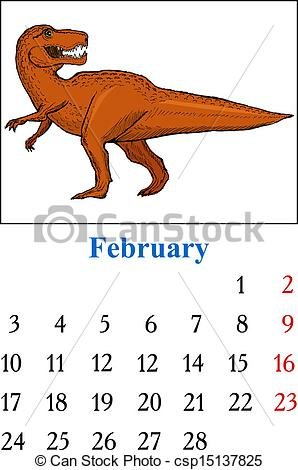 Free february 2014 calendar clipart image library download Vector Illustration of Calendar, February 2014 - Calendar with ... image library download