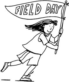 Station . Free field day clipart black and white