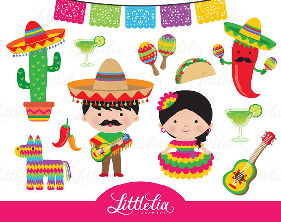 Mexicano clipart banner royalty free download Fiesta clipart - Mexican cinco de Mayo clipart - 15058 | Party Ideas ... banner royalty free download