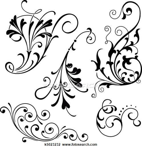 Free filigree clipart. Illustrations and royalty
