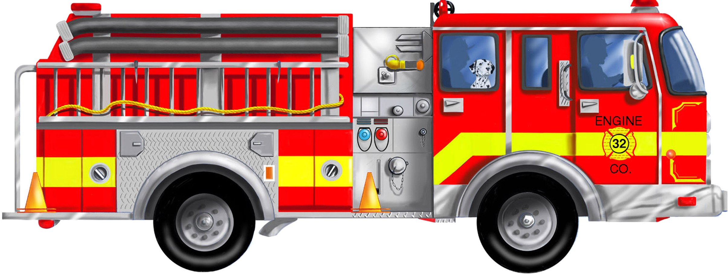 Free fire department clipart downloads banner black and white Free fire truck clip art - ClipartBarn banner black and white