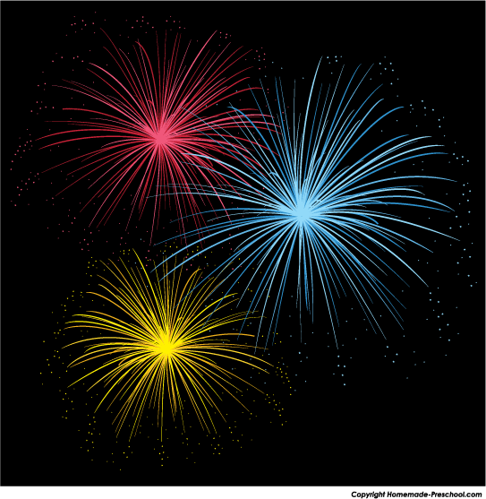 Free fireworks images clipart.