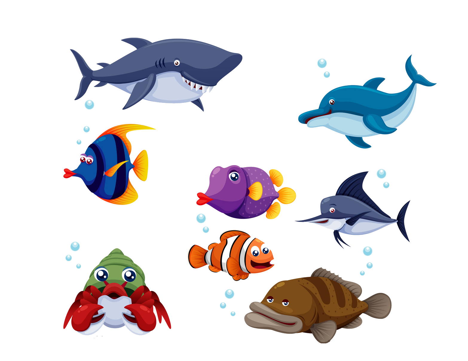 Free fish cartoon clipart picture transparent Fish Cartoon Clip art - Cartoon fish 1566*1207 transprent Png Free ... picture transparent