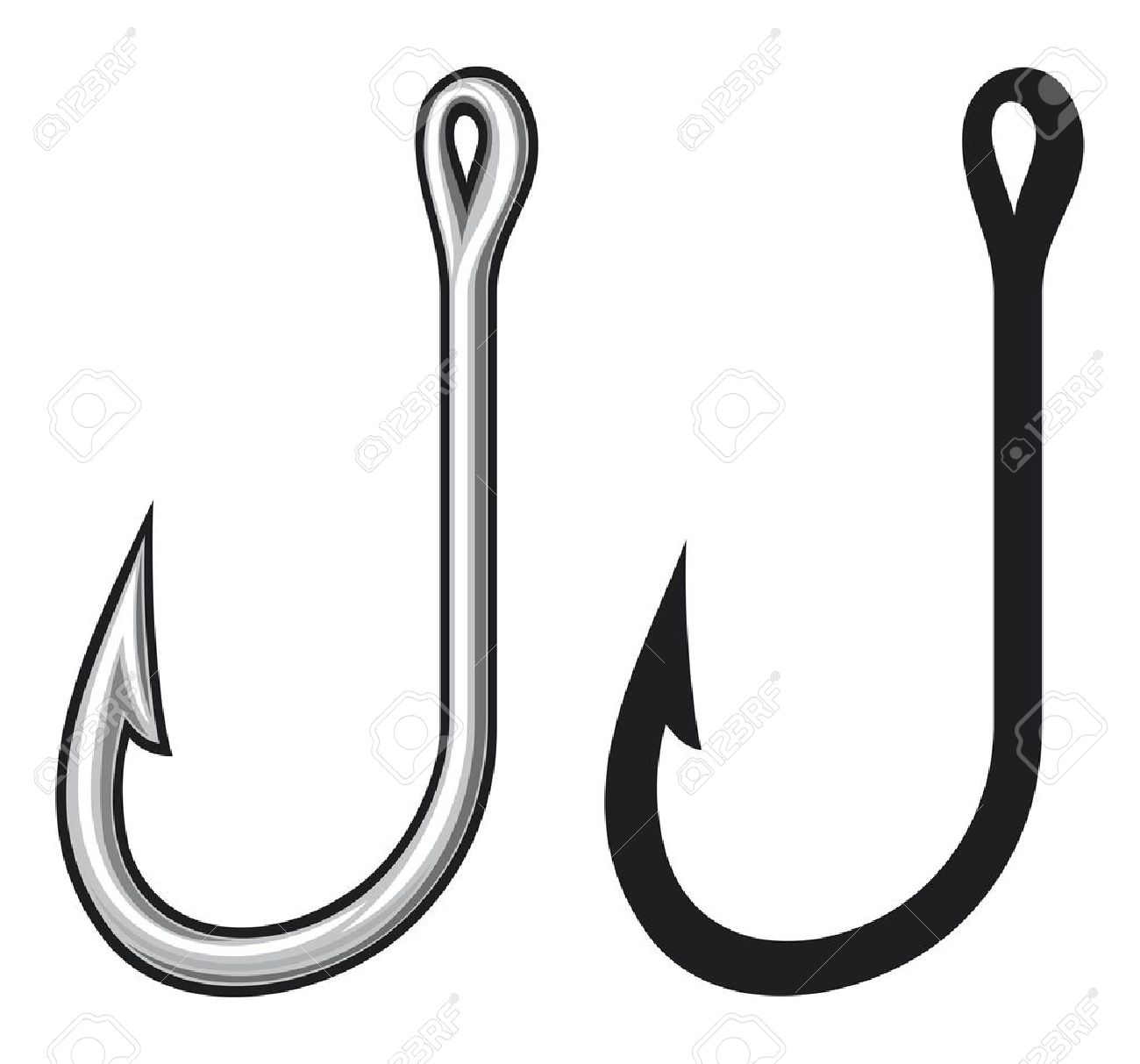 Free fish hook clipart vector royalty free Fish Hook Clipart   Free download best Fish Hook Clipart on ... vector royalty free