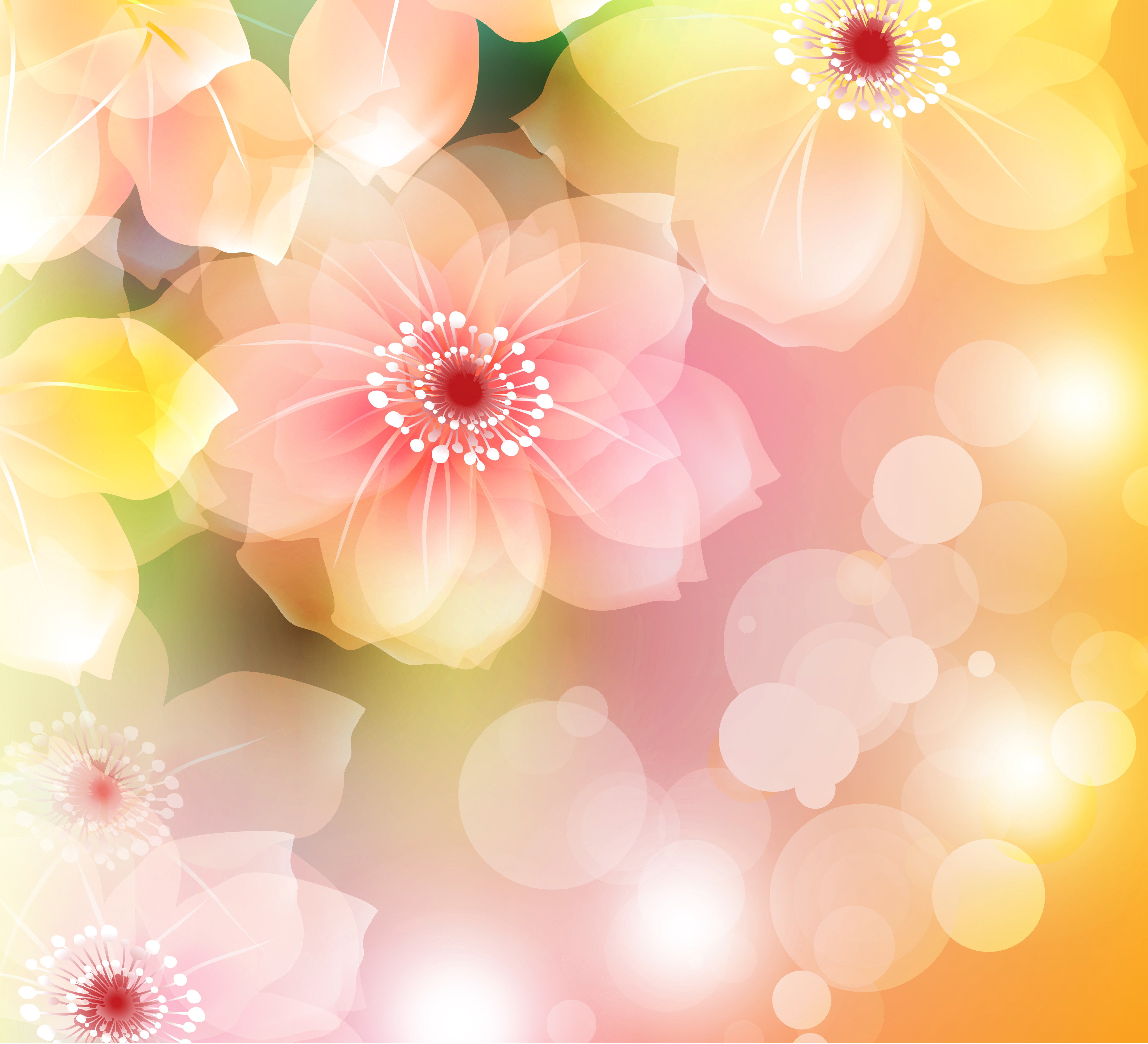Free floral background clipart