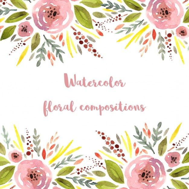 Cute watercolor style vector. Free floral background clipart