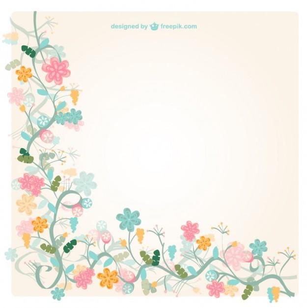 Free floral background clipart. Vintage vector