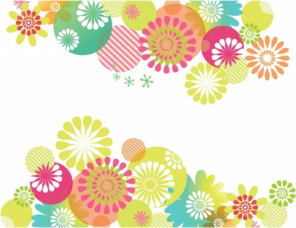 Flowers vector in adobe. Free floral background clipart