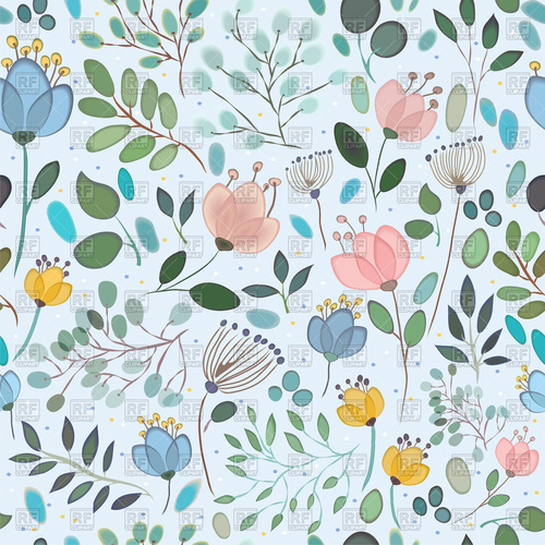 Elegance seamless pattern with. Free floral background clipart
