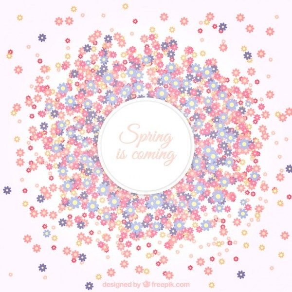 Free floral background images banner freeuse Floral Background for Spring Free Vector | 123Freevectors banner freeuse