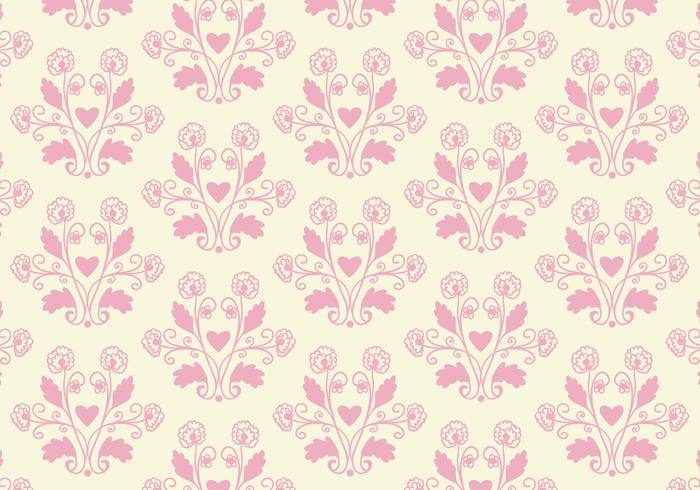 Free floral background images png library Free Vector Pink Toile Floral Background - Download Free Vector ... png library