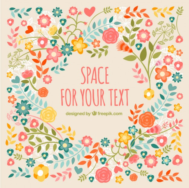 Free floral background images clipart stock Cute floral background Vector | Free Download clipart stock