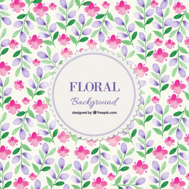 Free floral background images clipart black and white Watercolor Spring Floral Background Vector | Free Download clipart black and white