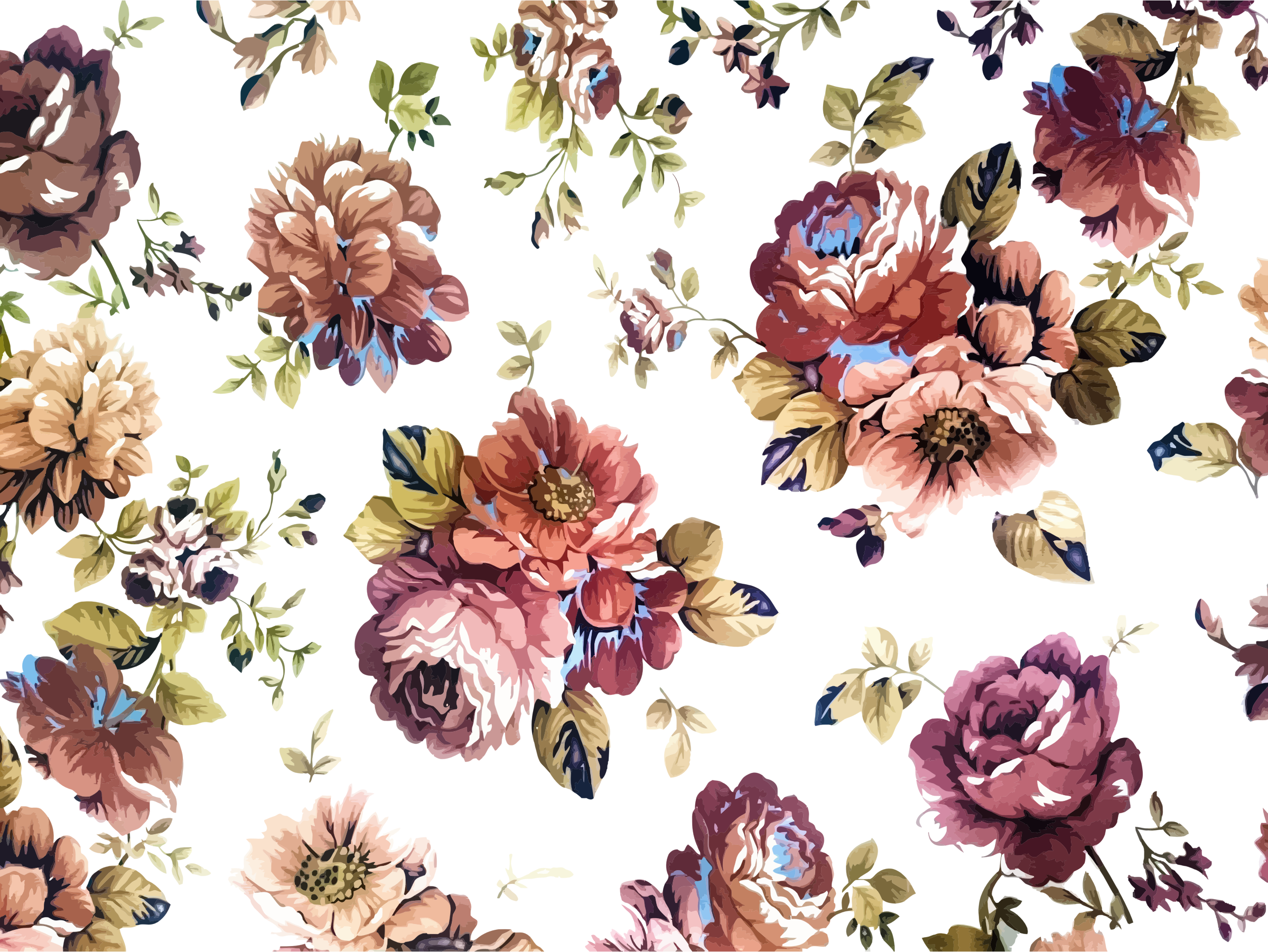 High res flower clipart clip art royalty free library Vintage Floral Texture Background Icons PNG - Free PNG and Icons ... clip art royalty free library