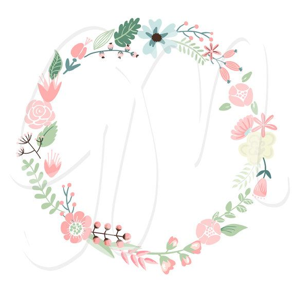 Free floral clip art images image library library Free flower wreath clipart - ClipartFest image library library