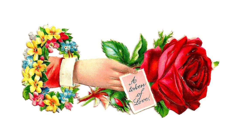 Free image flowers banner transparent stock Victorian Summer Flowers Clip Art | Free Flower Clip Art: Red Rose ... banner transparent stock