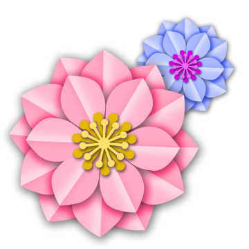 Free floral clipart for a bookmark. Bookmarks three dimensional flowers