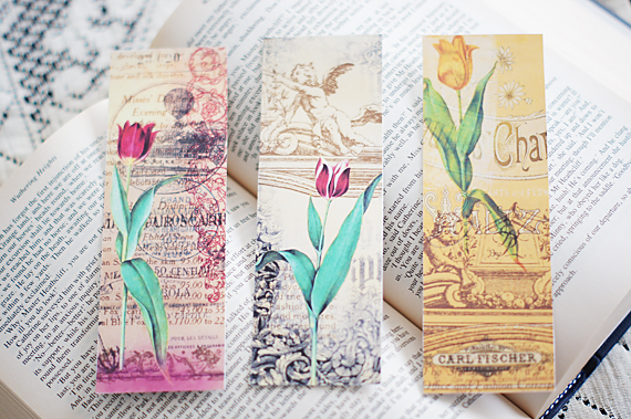 Free floral clipart for a bookmark. Printable bookmarks call me