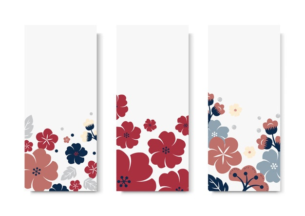 Free floral clipart for a bookmark. Vectors photos and psd