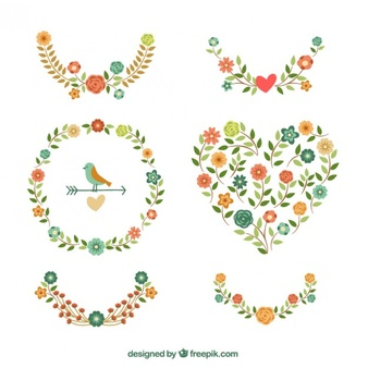 Free floral images svg library download Flower Wreath Vectors, Photos and PSD files | Free Download svg library download