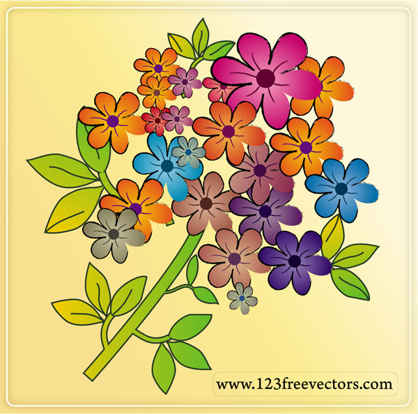 Free floral images download picture royalty free download Free Flower Vectors   Download Free Vector Art   Free-Vectors picture royalty free download