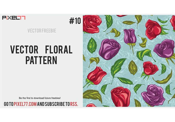 Free floral images download banner free library Floral Vector Pattern - Download Free Vector Art, Stock Graphics ... banner free library