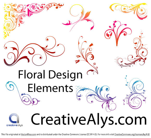 Free floral images download clip art library Floral Design Elements - Free Vector Art clip art library