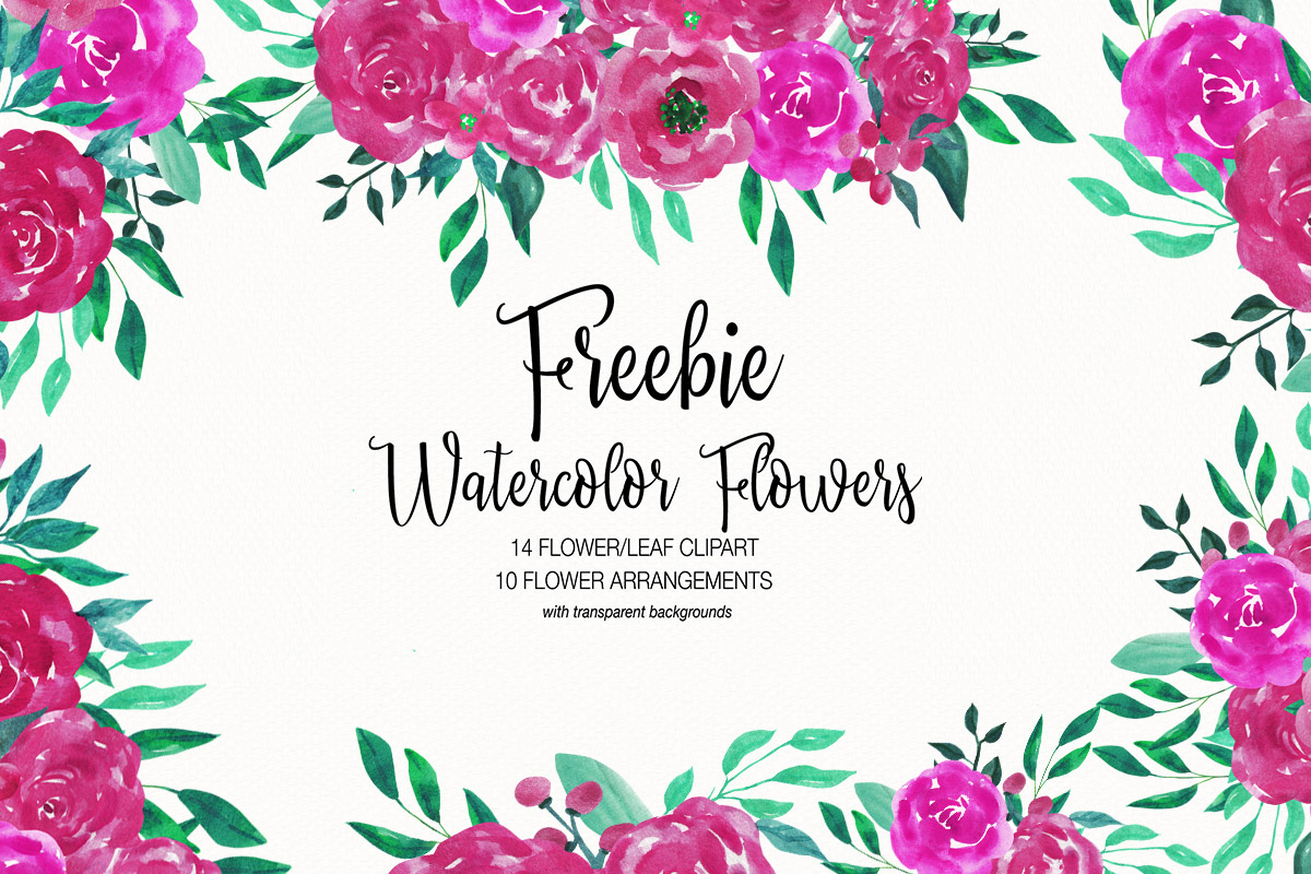 Watercolor flowers clipart free png royalty free Free Watercolor Flower Clipart Collection - Creativetacos png royalty free