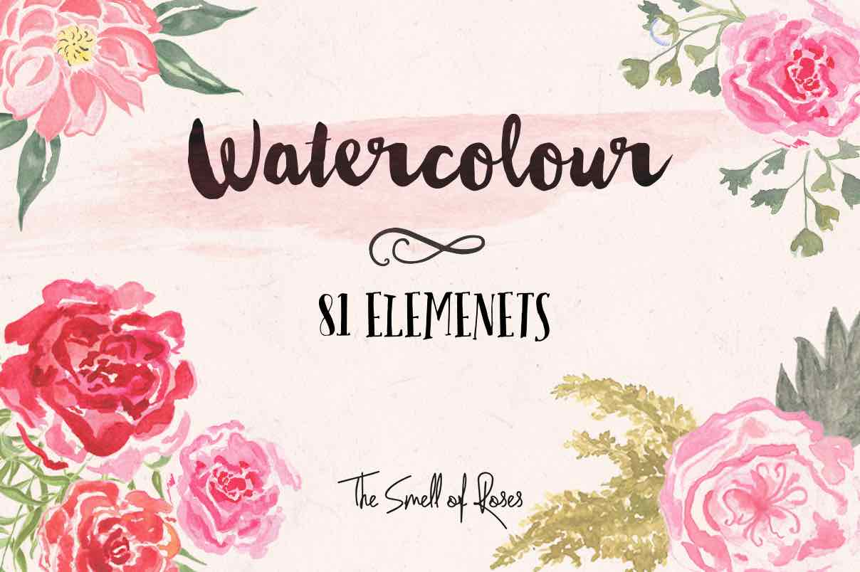 Watercolor flowers clipart free graphic library library Free Flower Clip Art - The Smell of Roses The Smell of Roses graphic library library