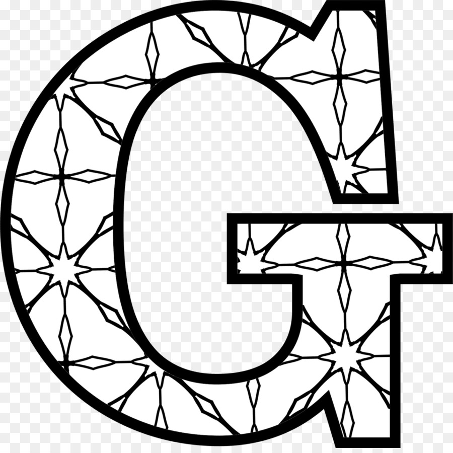 Whiegte g clipart clipart free Black And White Flower clipart - Letter, Alphabet, White ... clipart free