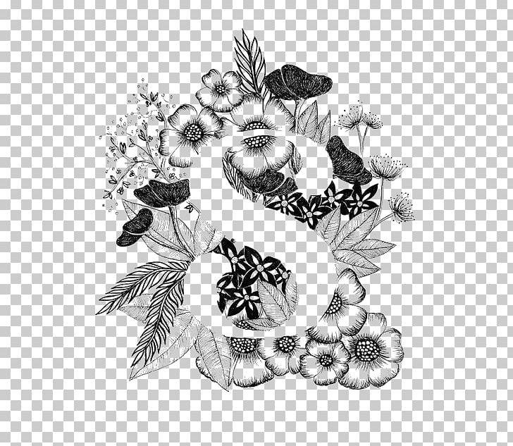 Free flower a letter clipart black and white png free Calligraphy Letter Drawing Typography Alphabet PNG, Clipart, Art ... png free