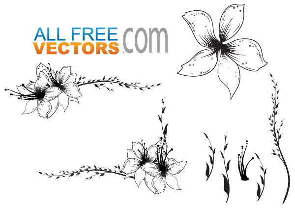 Free flower artwork banner free library Free vector clip art flowers - ClipartFest banner free library