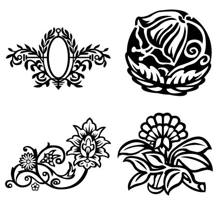Free flower artwork clipart black and white download Floral Vector Art | Free Download Clip Art | Free Clip Art | on ... clipart black and white download