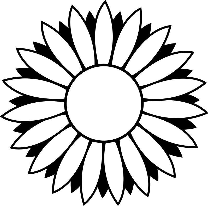 Free flower black and white clipart clipart royalty free download Flower Black And White Clip Art Flowers Clipart Pot Free ~ Clipgoo clipart royalty free download