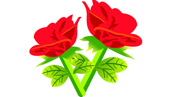 Free flower download banner library stock Free Vector Red Rose Flowers | Download Free Vector Art | Free-Vectors banner library stock