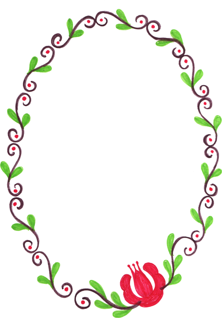 Free flower frame clipart clipart royalty free library 10 Oval Flower Frame (PNG Transparent) | OnlyGFX.com clipart royalty free library